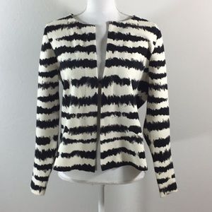 Chico's Striped Cardigan Jacket Size 1 (Med/8-10)